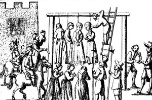 Those punished for witchcraft were sentenced to death and hanged.
